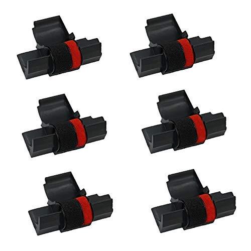 Printerfield IR-40T (6 Pack) Compatible Calculator Printer Ribbons Ink Roller– Black & Red