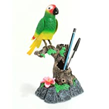 Talking Parrot records and repeats what you say - Parakeet Randomly whistles and tweets ??Says hello, I see you and I love you. Bird Ornament. by TechAffect