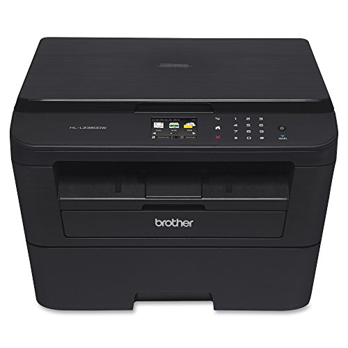 Brother Wireless Black-and-White 3-in-1 Laser Printer Black HL-L2380DW