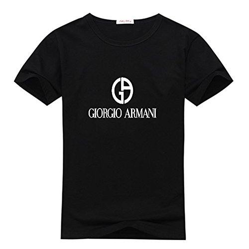 Giorgio Armani Men's Classic Logo Short Sleeve Graphic T-Shirt Large Black (Armani Jeans Short Sleeve T-shirt)
