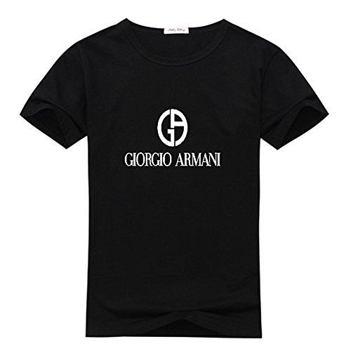 Giorgio Armani Men's Classic Logo Short Sleeve Graphic T-Shirt XX-Large Black (Giorgio Armani Men Clothing)