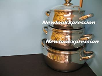 Amazon.com: 6 pc set Stainless Steel 18/10 Germany Mega cook stockpot cookware pots kitchen.: Pots And Pans: Kitchen & Dining