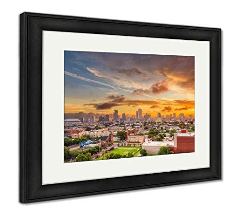 - Ashley Framed Prints New Orleans, Louisiana, USA Downtown Skyline at Dusk, Wall Art Home Decoration, Color, 30x35 (Frame Size), Black Frame, AG32474021