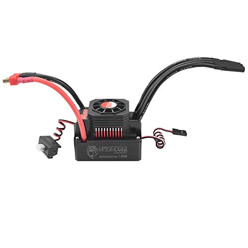 GoolRC 120A Brushless ESC Waterproof Electric Speed Controller for 1/8 1/10 RC Truck Off-Road Car