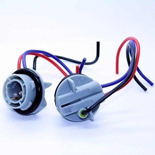 LED-Mafia 2X BAY15D 1157 P215W LAMPENFASSUNG Halogen Lampen Fassung Stecker Kabel Sockel 12V