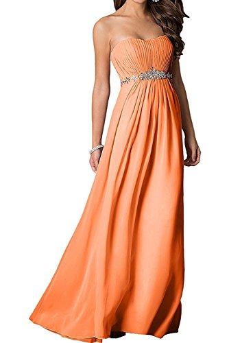 A Brautjungfernkleider Orange Lang Damen La Partykleider Lila Mode mia Braut Steine Ballkleider Abendkleider Linie Chiffon mit 8qBfzFaqw