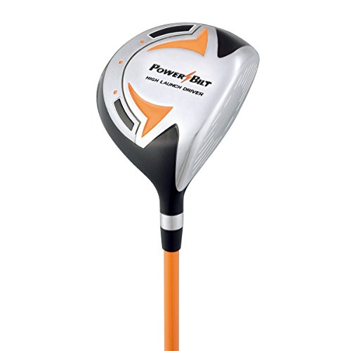 PowerBilt Boys Ages 3-5 Golf Driver, Right Hand, Orange