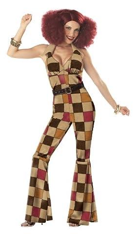 California Costumes Women's Boogie Babe Costume,Tan,Large (80er Ära Kostüme)