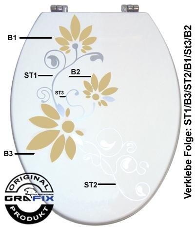 Sternzahn02 para asiento de inodoro Pressalit gris plata//vinilo verde