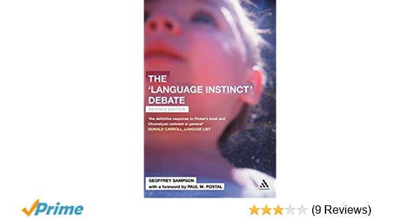 Amazon The Language Instinct Debate 9780826473851 Geoffrey