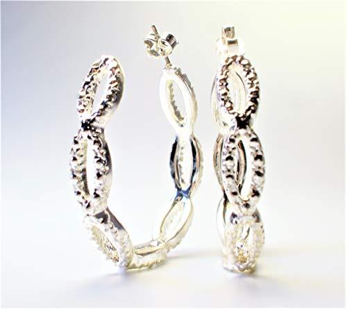 Avon Rhinestone Hoop Earrings