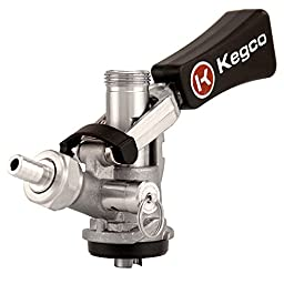 Kegco KC KTS98S-W Ergonomic Handle with Stainless Body & Probe European Keg Beer Coupler S System, Stainless Steel