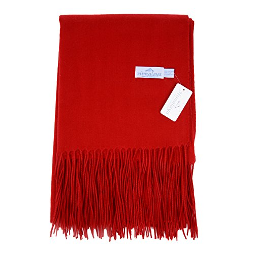 Himalaya Trading Company Classic Cashmere Blend Throw in Perfect Red