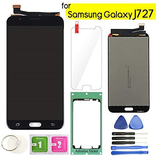 Samsung Galaxy J727 LCD Display Screen Replacement Touch Digitizer Assembly 5.5 for J7 Prime 2017 J727U SM-J727T SM-J727T1 J727R4 J727V J727P Sky Pro SM-J727A SM-J727VL J7 2017 Perx J727PZKASP(Black)