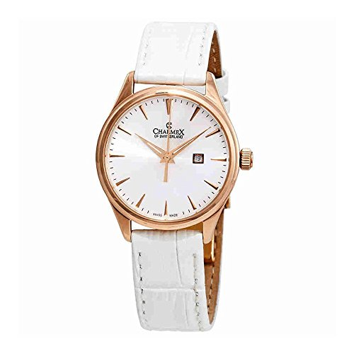 Charmex White Dial White Leather Ladies Watch 6380