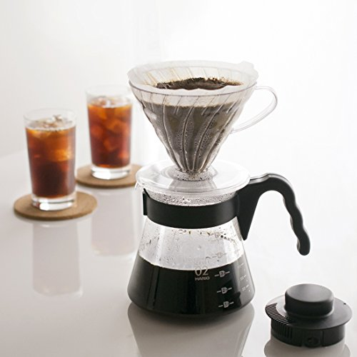 Hario V60 Pour Over Starter Set With Coffee Dripper Pot
