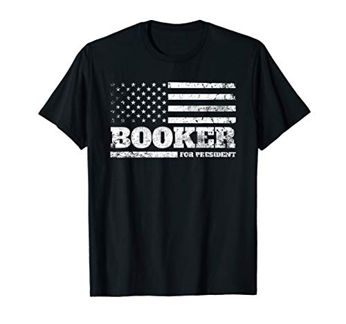 Cory Booker for President 2020 American Flag USA T-Shirt (Booker T And The Mgs T Shirt)