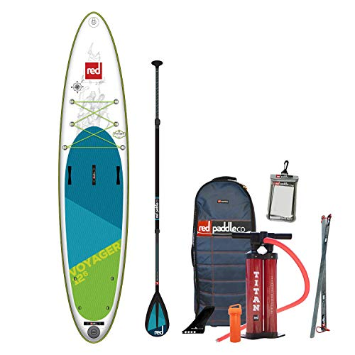 Red Paddle Co 2019 12'6 Voyager Inflatable SUP with Carbon 100 Nylon Paddle