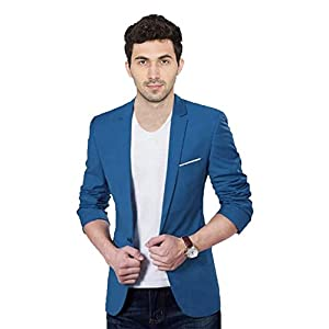 Personality plus Solid Single Breasted Party, Casual, Men's Full Sleeve Blazer (Dark Blue)
