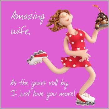Esposa tarjeta de aniversario de cumpleaños día de San Valentín Navidad increíble nuevo trabajo enhorabuena