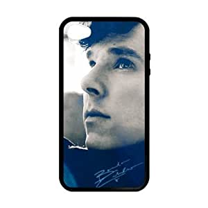 iPhone 4 Case, [Benedict Cumberbatch] iPhone 4,4s Case Custom Durable Case Cover for iPhone4s TPU case (Laser Technology)