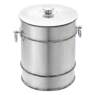 Reed & Barton 7510 Heritage Banded Bead Ice Bucket, Silver