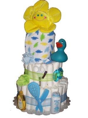 Dinosaur Bath Diaper Cake