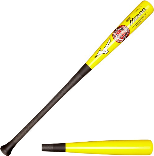 Mizuno Maple Carbon Composite Wood Baseball Bat, Yellow/Black, (Light Adult Wood Baseball Bat)