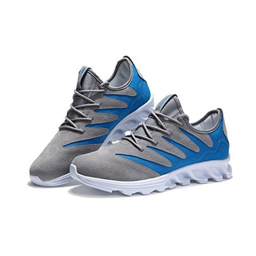 Supshark -Baskets hommes chaussures de course anti-dérapant chaussures de voyage occasionnels chaussures hommes (43 EU, Gris) Kaki