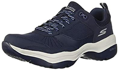 Skechers Women's Mantra Ultra Sneaker, Navy/Gray, 5 M US
