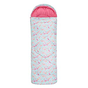 Mountain Warehouse Apex Mini Square Patterned Sleeping Bag – 2 Season, Lightweight, Insulated