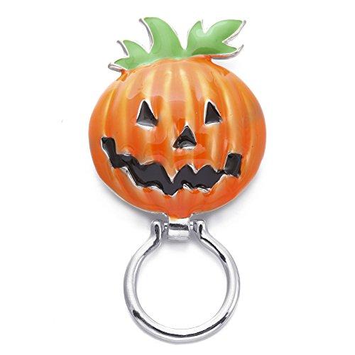 SENFAI Pumpkin Magnetic Eyeglass Holder,Unisex-Adult Jewelry,Pumpkin Head Brooch