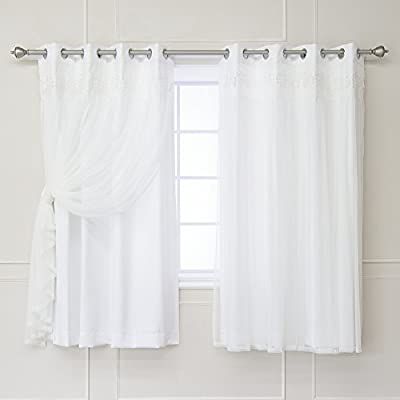 Best Home Fashion BLACKOUT LACE - WHITE -  - living-room-soft-furnishings, living-room, draperies-curtains-shades - 41bks94cfAL. SS400  -