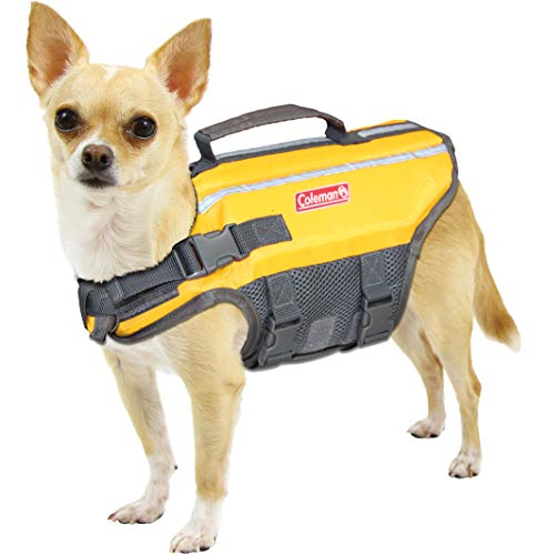 Coleman High Visibility Lifejacket for Small to Large Dogs, Yellow, Size Small / 4\