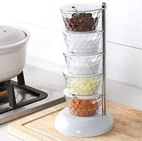 UPKOCH 創造的なスパイスジャークリスタル回転式調味料塩コショウボックスキッチン調理