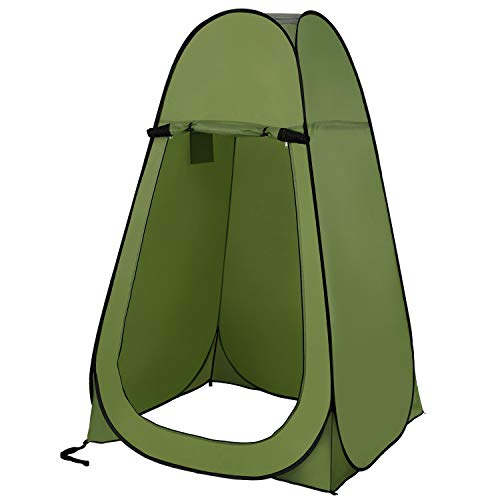 Sumbababy Pop Up Changing Tent Portable Privacy Shower Tents,Easy Waterproof Toilet Bathroom for Beach and Camping,Instant Outdoor Sun Shelter Camp Dressing Fitting Room with Carrying Bag (Green)