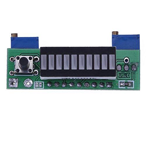 Alloet 12V Battery 3.7V Lithium Battery Power Level LED Measurement Display Board