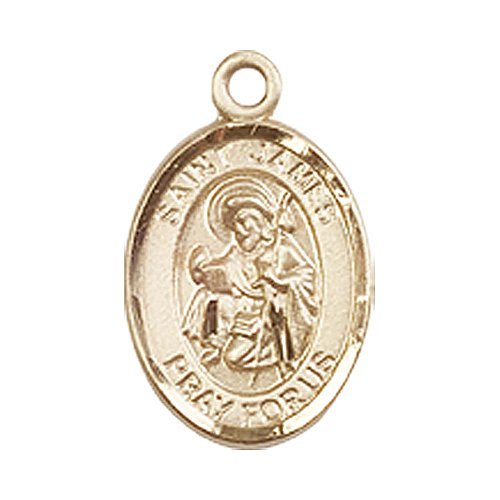 14kt Gold St. James the Greater Medal. Patron Saint of Against ()