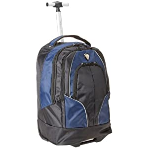 CALPAK Rickster Navy Blue 20-inch Rolling 17-inch Laptop Backpack