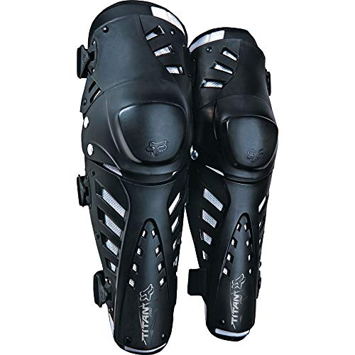 Fox Racing Titan Pro Knee/Shin Guard - One size fits most/Black (Sports Bike Knee Pads)