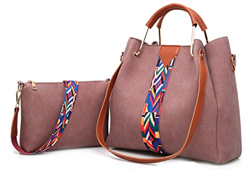 with Bag Douple Purse Pink Hobo Set Single Cross Bag Print Body Aztec Zzfab amp; Suede Strap Strip aXPqT6q