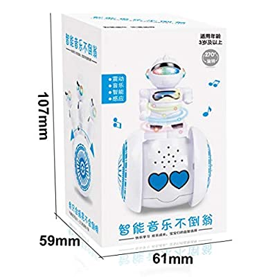 Tinffy Intelligent Tumbler Gliding Robot Kids Early Education Sound Light Toys Remote- & App-Controlled Figures & Robots : Baby