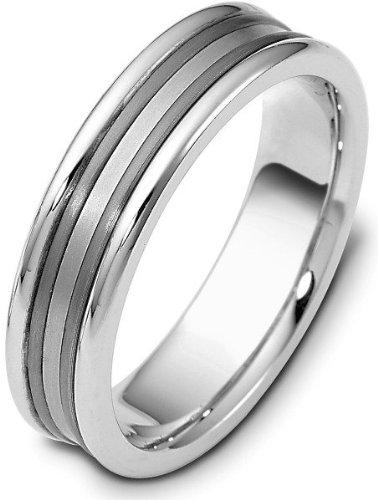 Ring Dora Titanium (6mm Wedding Platinum and Titanium Band Ring - 11.75)