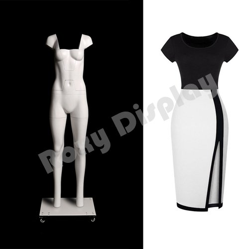 MZ-GH1--S ROXYDISPLAY/™ Female Invisible Mannequin With nice figure and arms,V-neck Removable neck and Arms.