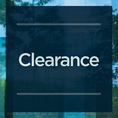5-Pack Credit Cards Accepted CGSignLab 30x20 Classic Navy Clear Window Cling