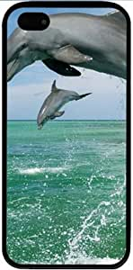 Iphone 5 5s TPU Supple Shell Case Water Sky Sea Black Skin by Sallylotus