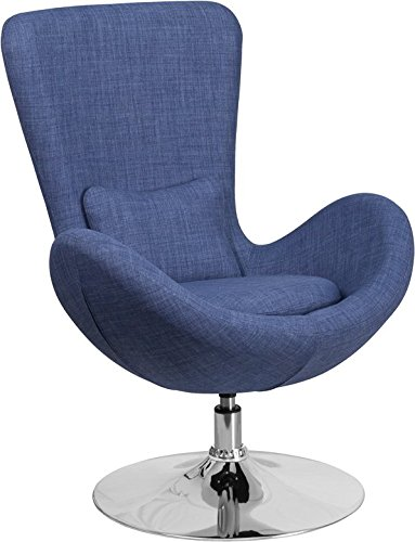 Radisson Blue Fabric Side Office Reception/Guest Egg Chair, Curved Arms