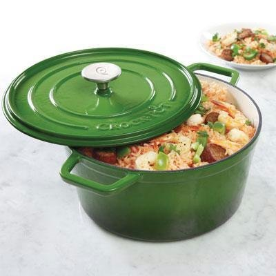 Crock-Pot Elmington Cast Iron Dutch Oven, 5 quart, Gradient Green (Le Creates Small Dutch Oven compare prices)