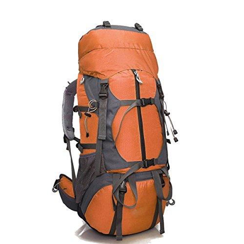 Alpinismo Al Aire Libre Mochila De Viaje 80L,Yellow orange