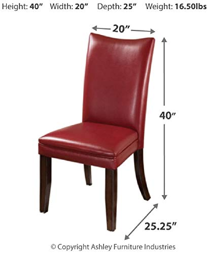 Ashley Furniture Signature Design - Charrell Dining Side Chair - Set of 2 - Red by Signature Design by Ashley (Image #5)